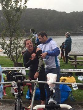 Swim to bike transition